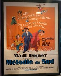 Walt Disney Song Of The South Original 1946 Large Grande French Movie Poster