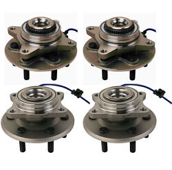 Moog Front And Rear Wheel Bearing And Hub Assemblies Kit For Ford Lincoln 4wd