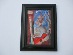 William Mccance 1940and039s Vintage Modernist Painting Expressionist Cubist Cubism
