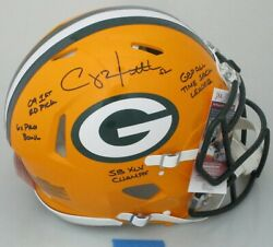 Packers Clay Matthews Signed Full Size Authentic Speed Helmet Auto W/scripts Jsa