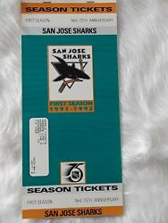 Rare Vintage San Jose Sharks First Season Ticket Promo Cuts 30th Anniversary