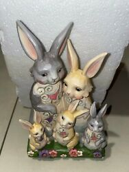 Jim Shore Artist Proof Sample Easter Bunny Family Hares To You 6001076 Rare