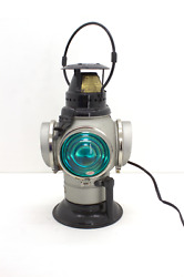Electrified Adlake Fork Railroad Switch Lamp Lantern Oil Fount Included