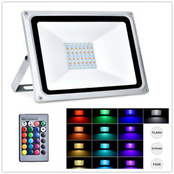 50w Rgb Led Flood Light Outdoor Security Lighting With Remote Control 4000lm