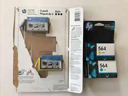 564xl -2 Pack Black,1 Cyan,1 Yellow. New Sealed. See Pictures And Desc Expired