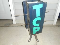 Vintage Shell Tcp Gas Station Motor Oil Gas Pump Globe Advertising Spinner Sign
