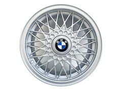 New Genuine Bmw 15x7 Basketweave Design Alloy Wheels Set Of 4 With Center Caps