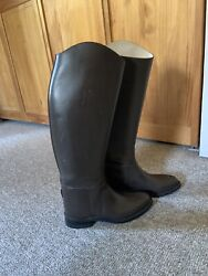 Effingham Custom Brown Dress Boots 7 Wide 16andrdquo Calf 17.5 Heighthunt Sidesaddle