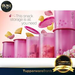 Tupperware Camellia One Touch Gift Set / Canister 6pcs 1.25l