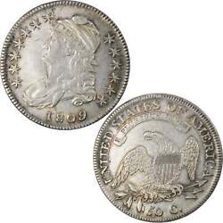 1809 Capped Bust Half Dollar Au About Uncirculated Details 89.24 Silver 50c