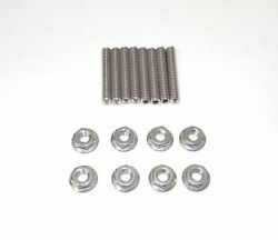 Stainless Steel Dual Quad Carb Stud Kit Fits Holley Edelbrock Carter Demon New