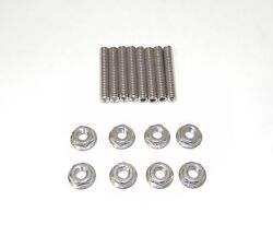 Small Block Chevy 2 Stainless Steel Dual Quad Carb Stud Kit New