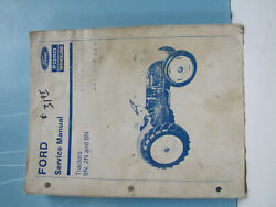 Ford 9n, 2n And 8n Tractors Service Manual Good Used Condition