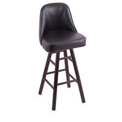 Holland Bar Stool Co. Grizzly Extra Tall Bar Stool With Smooth Oak Legs Dark...