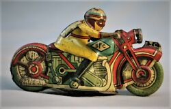 Vintage Lithographed Tin Toy Motorcycle -- Italy