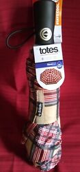 ISOTONER TOTES NeverWet SunGuard FULLY AUTO UMBRELLA 55quot; COVER STAY COOL NWT $8.00