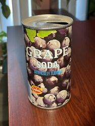 Canfields Grape Soda Can Flat Pull Tab Top Chicago Ill. 60619 Rare Vintage