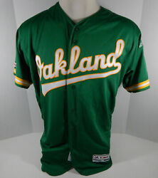 2019 Oakland Athletics Blank Game Issued Kelly Green Jersey 150 P Majestic 46 0s