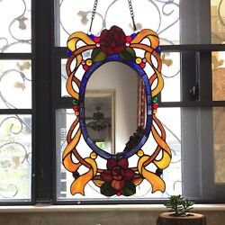 Style English Country Stained Glass Window Panel Mirror One This Price