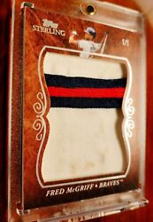 {1/1} Huge Dirty 3-color Patch Fred Mcgriff Atl Braves Topps Sterling Jersey