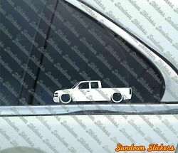 2x Low Muscle Truck Stickers -for Chevrolet Silverado Extended Cab 1999-02 L1183