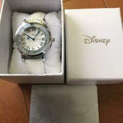 Disney Mickey Mouse X Crystal Watch 02 Silver X White From Japan