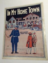 In My Home Town Sheet Music Police Officer And Flapper Girls Night Stick