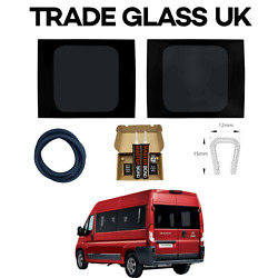 Peugeot Boxer Barn Door Windows With Fitting Kit And U Trim 2006 - 2021