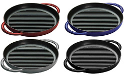 Staub Cast Iron 10 Pure Cooking Grill - 4 Colors Choice New