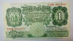 Great Britain Bank Of England One Pound. L.k. O'brien.1955 - 1962.