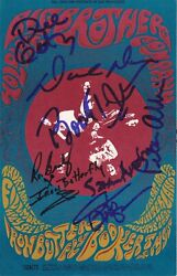Signed Fillmore Card Booker T Mgs Big Brother Holding Co Iron Buttterfly Coa Rr