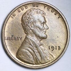 1913 Lincoln Wheat Cent Penny Choice Unc Free Shipping E137 Jne