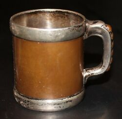 And Co Miniature Arts And Crafts Babyand039s Sterling Silver And Copper Mug