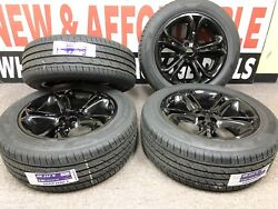 20 Ford Explorer Gloss Black Wheels And Tires Factory Oem Set 4 Powder Coated