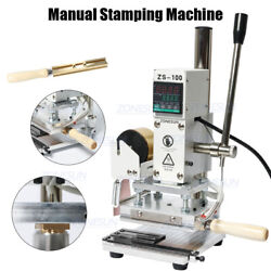 Manual Stamping Machine Leather Paper Wood With Measure Lines Letters Hot Foil