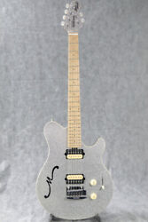 Used Musicman Axis Super Sport Semi-hollow Silver Sparkle 2014 Electric Guitar