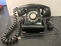 Vintage Bell System Western Electric Rotary Desk Telephone F1 306 A/c Phone