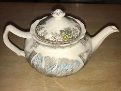 New Johnson Brothers Made In England The Friendly Village Sugar Maple Teapot