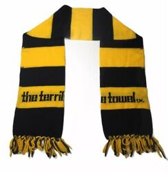 """Vtg Myron Cope's Pittsburgh Steelers Terrible Towel Scarf 58"""" Rare Hard To Find"""