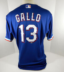 2020 Texas Rangers Joey Gallo 13 Game Issued Blue Jersey Inaugural Season P 500