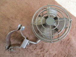 1930and039s-1940and039s 5 Inch Super Deluxe Art Deco Style Column Mount Cooling Fan