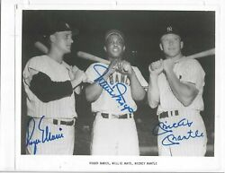 Roger Maris And Mickey Mantle Autographed Baseball 8x10 Photo Psa Letter Nyyankees