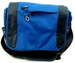 American Tourister Laptop Bag Travel Carry On Luggage 16x11 Adj Strap Blue