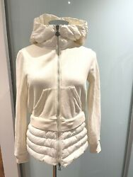 Moncler Down And Cotton Jersey Jacket Women White Size S