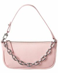 By Far Rachel Mini Leather Clutch Women#x27;s Pink $249.99