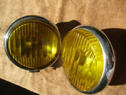1930and039s Cats-eye Script 6 Inch Auxiliary Fog Lamps