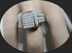 Womenandrsquos Estate Ring 1.25ct Natural Diamonds 14kt White Gold And Rubies Just Flip