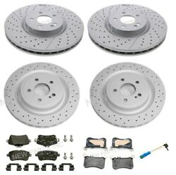 Genuine Front And Rear Disc Brake Rotors And Pads For Mercedes X117 X156 Cla45 Amg