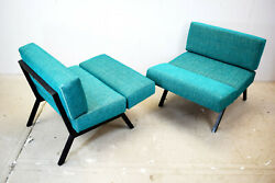 Italian Reclining Lounge Chairs From Ipe Brevetti 1960s Set Of 2