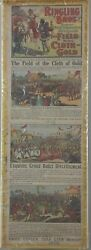 """Ringling Brothers Circus """"field Of The Cloth Of Gold"""" Window Card Poster."""
